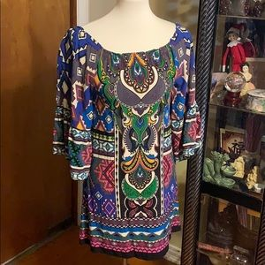 Flying Tomato Aztec Print Dress Small